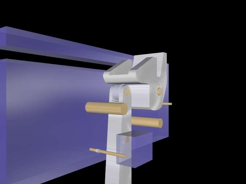 Спусковой механизм арбалета имеет регулировку положения.